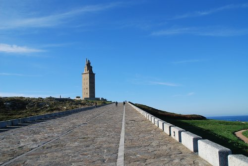 the tower of hercules  la coruña  galicia
