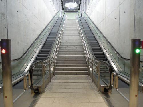 the train-station the escalator desert