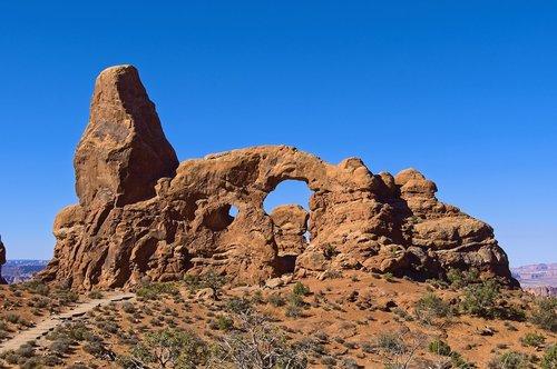 the turret arch  arches  sandstone