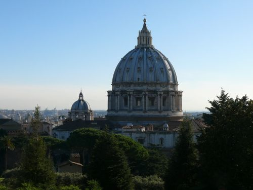 the vatican cathedral of st peter the vatican gardens