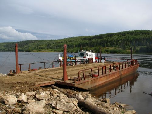 the vishera river ferry crossing
