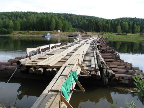 the vishera river crossing bridge