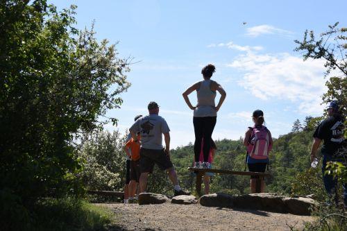 žygis, žygiai, vaikščioti, vaikščioti, lauke, gamta, pratimas, šeima, vista vaizdas