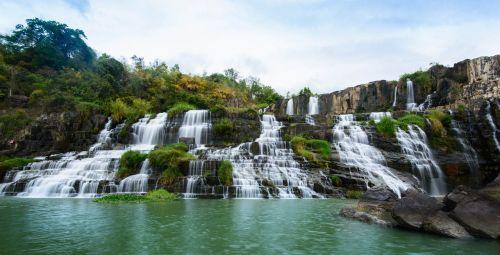 the waterfall waterfall ponguor waterfall