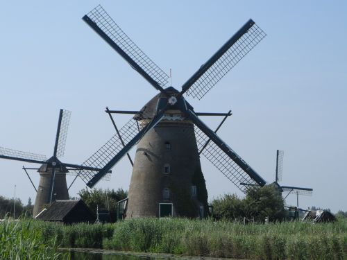 the windmills netherlands landscape