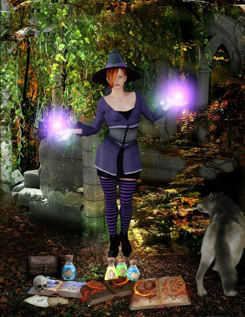 the witch magic halloween
