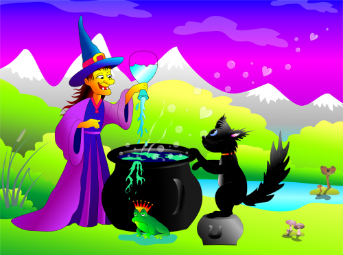 the witch frog cat