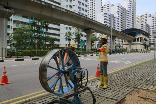 the work road construction singapore
