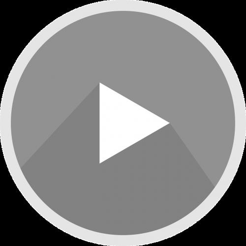 the youtube logo icon grey