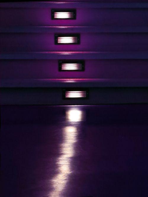 theater lighting stairs