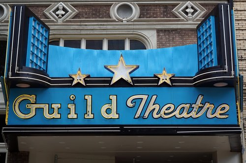 theater marquee  sign  theater