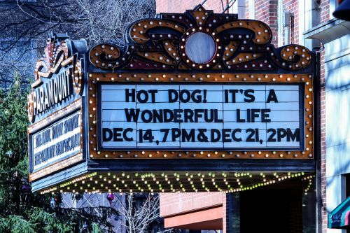 theatre marquee sign movie
