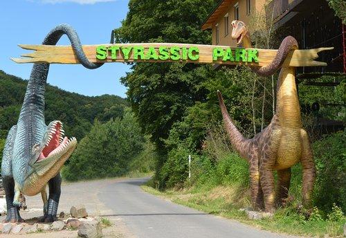 theme park  dinosaur  prehistoric times