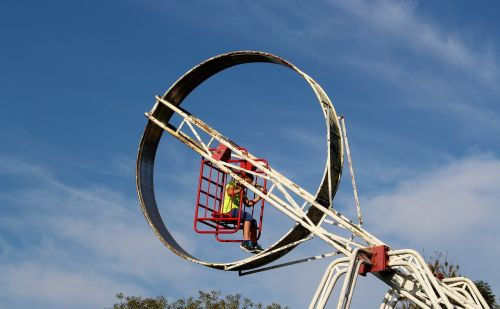 theme park rotary wheel child
