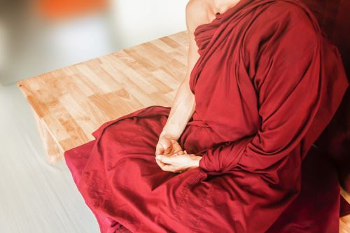 theravada buddhism meditate meditating hand posture