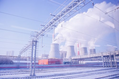 thermal power station  moscow  russia