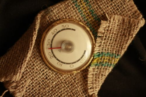 thermometer background device
