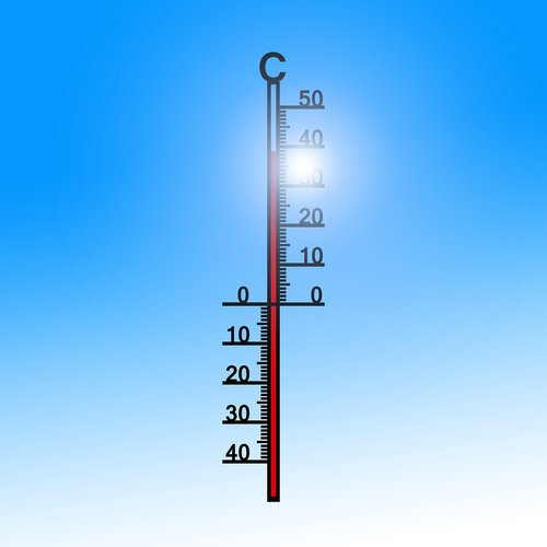 thermometer  summer  heiss