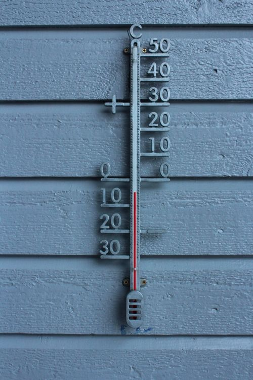 thermometer winter frost