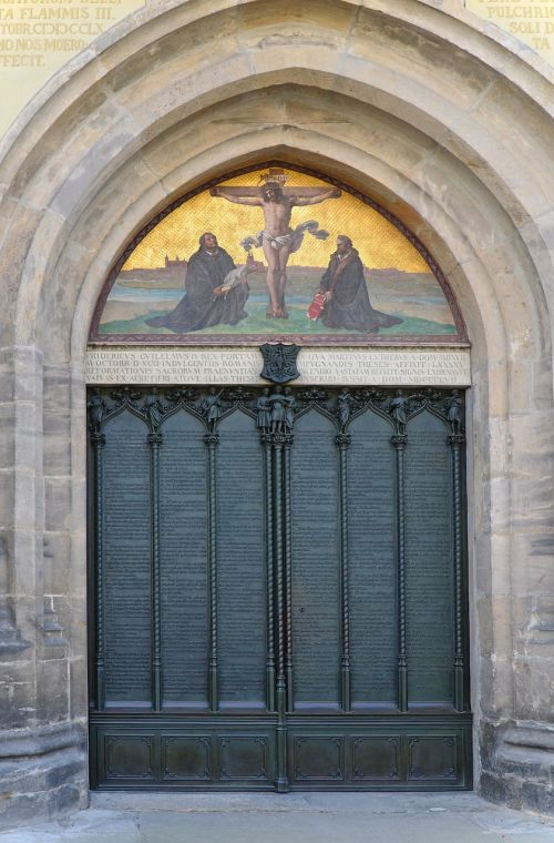 these door castle church lutherstadt
