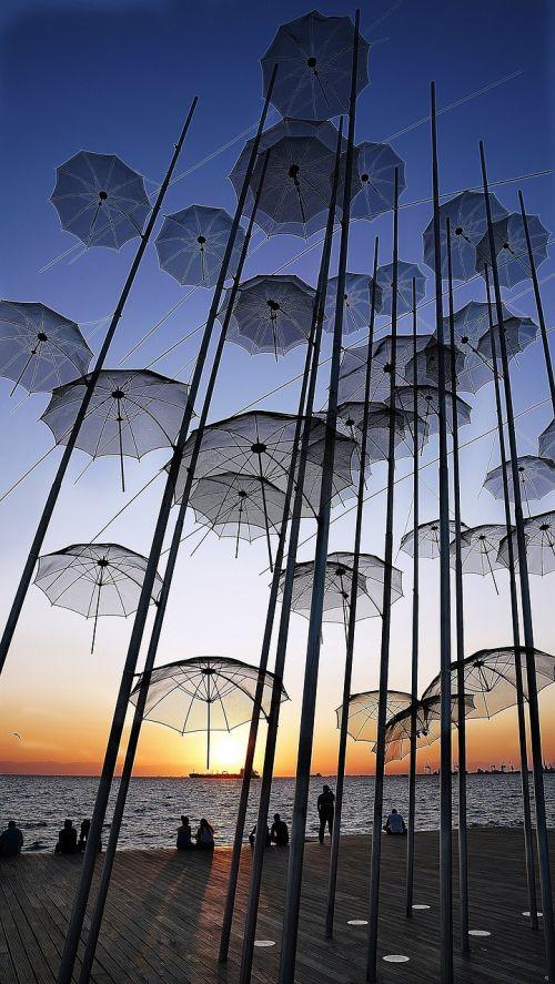 thessaloniki umbrella landmark