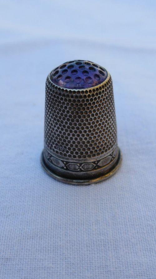 thimble sew silver