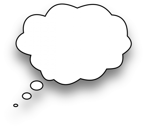 thinking speech bubble comic