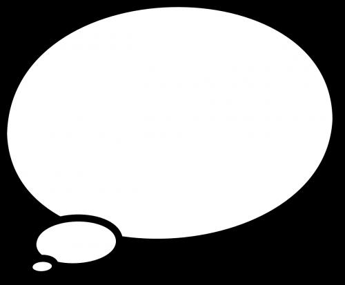 thinking bubble ellipse
