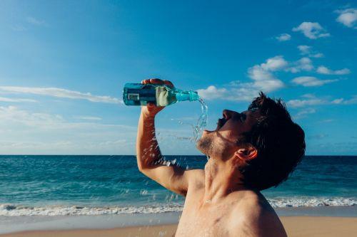 thirsty man drink drinking