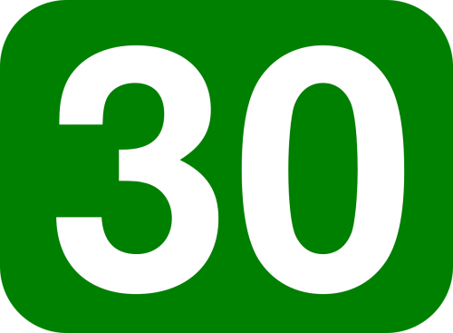 thirty number rounded