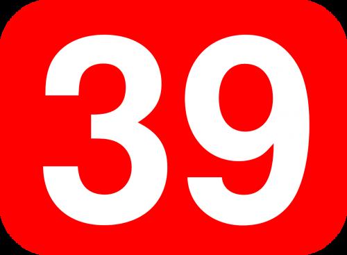 thirty nine number
