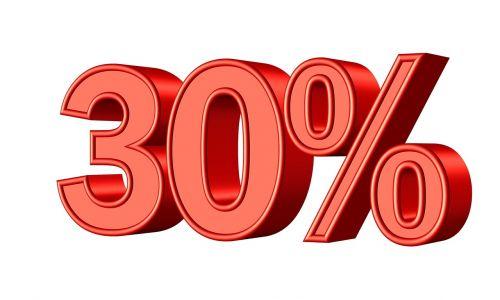 thirty 30 percent