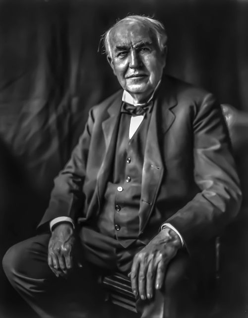 thomas edison - male portrait inventor