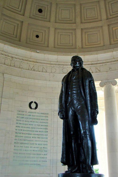 thomas jefferson memorial statue washington dc