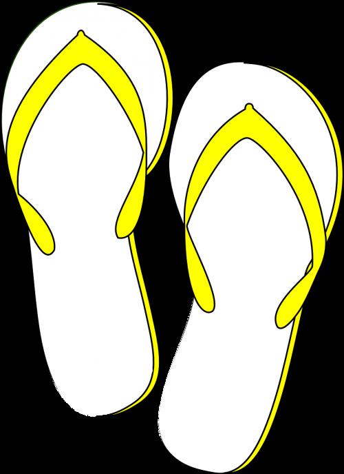 thongs flip flops yellow