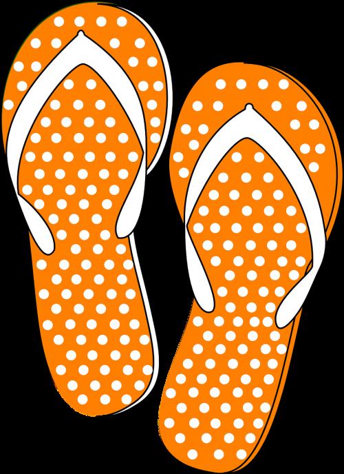 thongs flip flops orange
