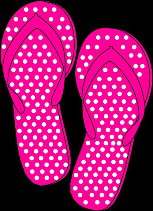 thongs flip flops pink