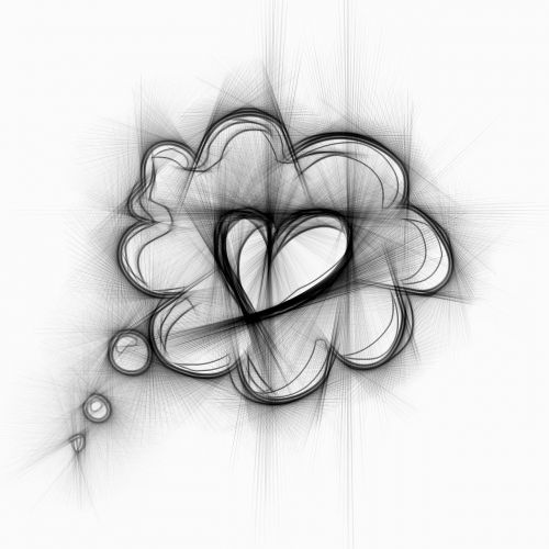 thoughts love heart