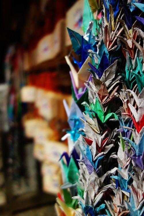 thousand paper cranes prayer wooden plaque