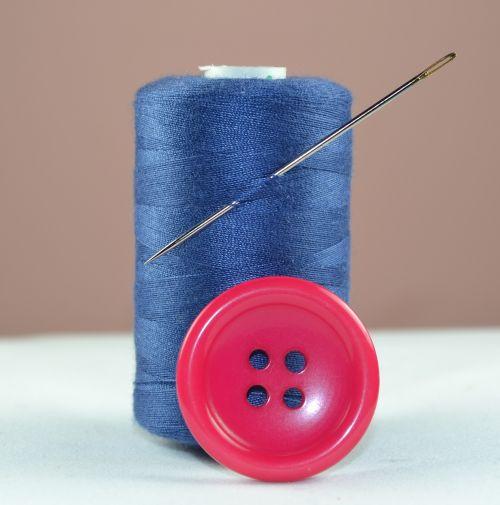 thread blue button
