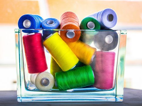 thread sewing colorful
