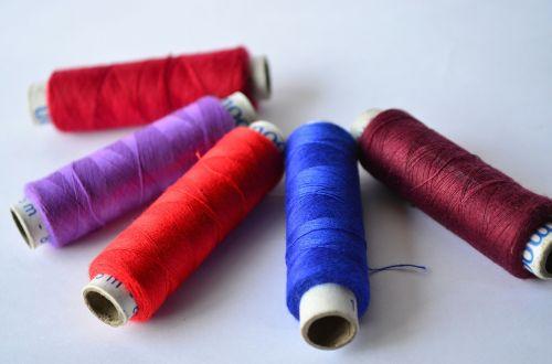 threads blue brown
