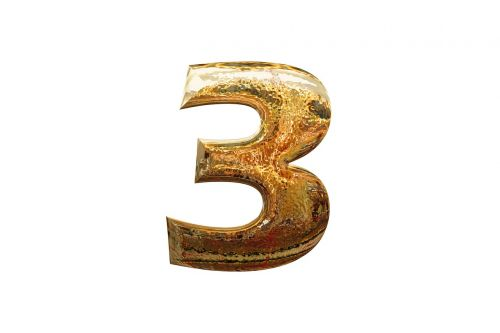three 3 number