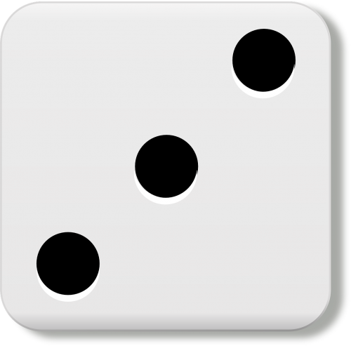 three dice eyes