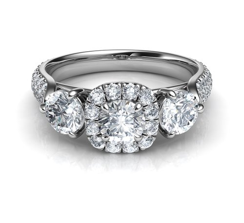 three diamonds ring  engagement ring  diamond ring