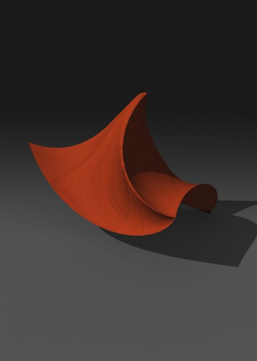 three-dimensional abstract irregular