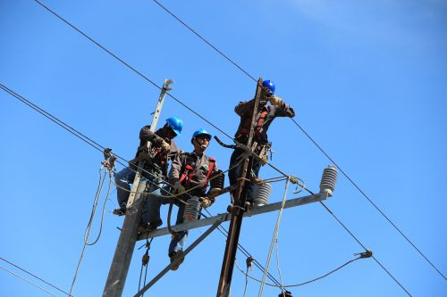 Three Line Workers