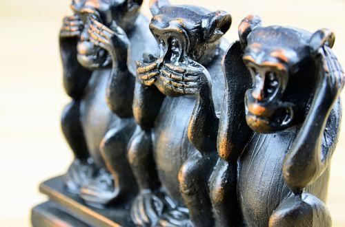 three monkeys three wise monkeys ancient icon