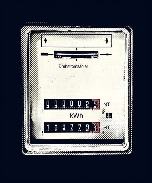 three-phase meter  electricity meter  drawing