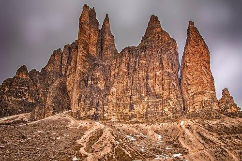 three zinnen  dolomites  landscape